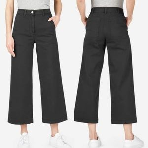 Everlane The Wide Leg cropped pants high rise